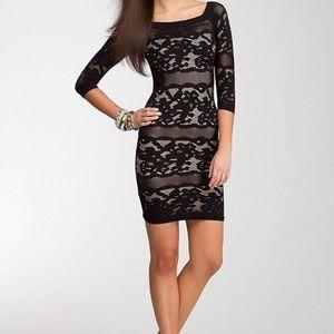 Bebe off the shoulder lace dress